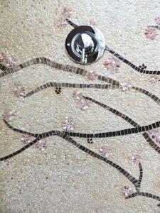 custom outdoor mosaic shower