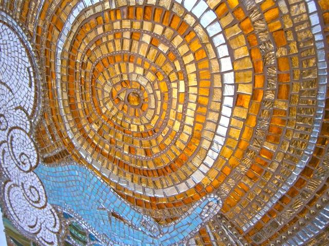 Ace of Life wallhanging, golden, tarot mosaic, brandi fletcher