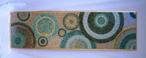 glass, handcut, mirror, mosaic wallhanging