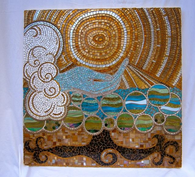 Original mosaic artwork, Handcut glass mosaic, spiritual mosaic