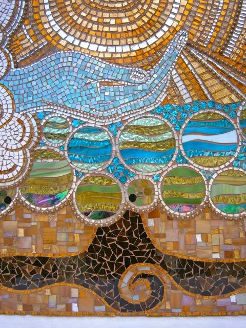 mosaic artwork, glass work, original art, mosaics