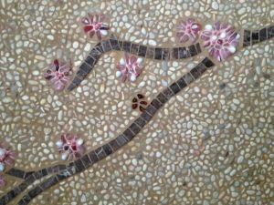 mosaic ideas, cherry blossom design, ojai mosaics, outdoor artwork