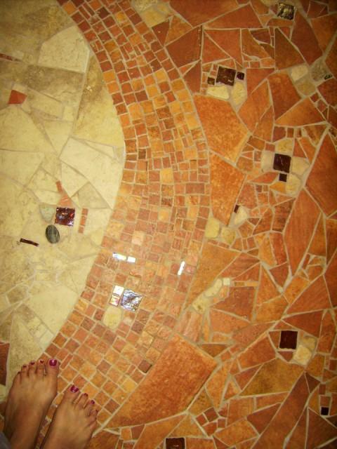 stone floor mosaic brandi fletcher design