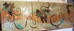 wine bar table top mosaic