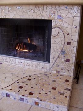 Tile work, mosaic artist Brandi Fletcher