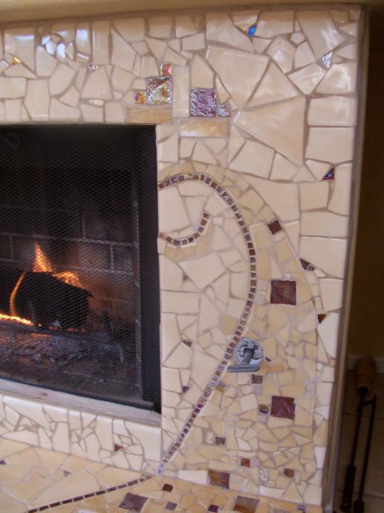 mosaic tilework, original art, stone art, glass artist