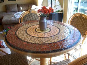 mosaic design table