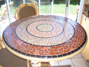 abstract mosaic design, tile work