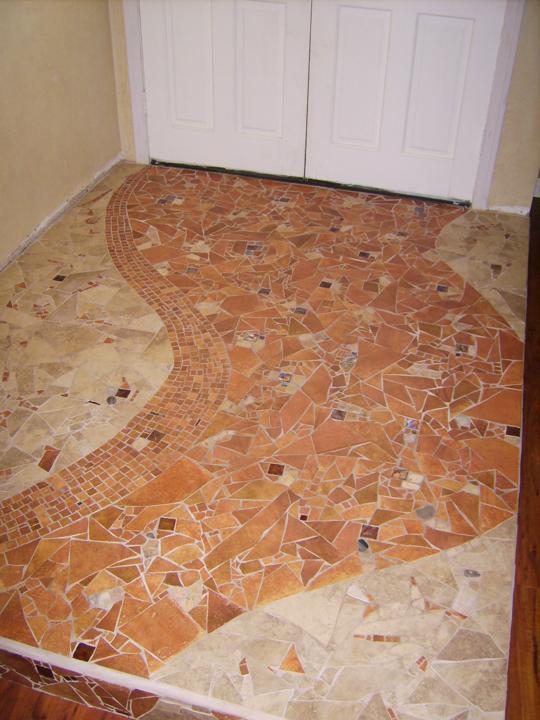 Foyer Tile Mosaic : Tuscan inspired entryway brandi fletcher mosaic design